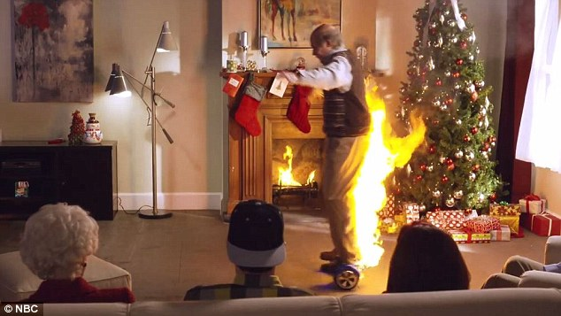 Flaming Hoverboard
